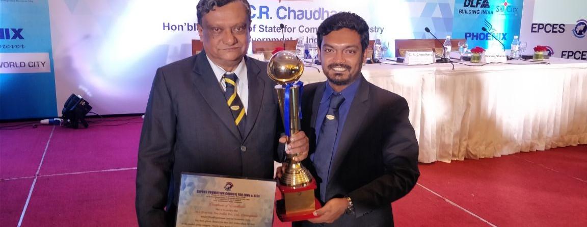 Everton Tea India Ptv premiata Maggior esportatore di tutte le SEZs e EOUs indiane