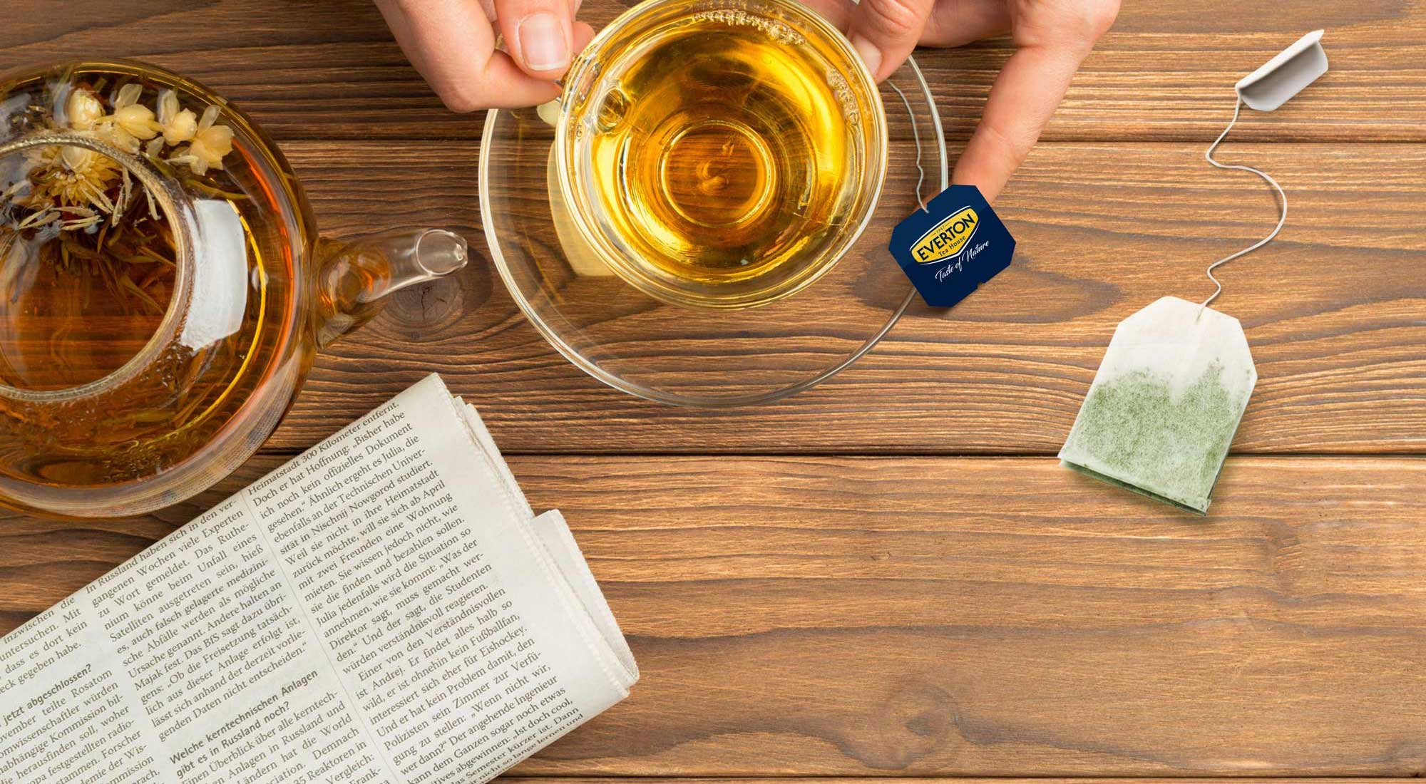Everton, l'unica azienda italiana di tè certificata UTZ per il proprio marchio