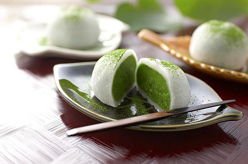mochi al tè verde